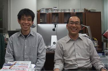技術参事の渡部さんと中内先生の写真。